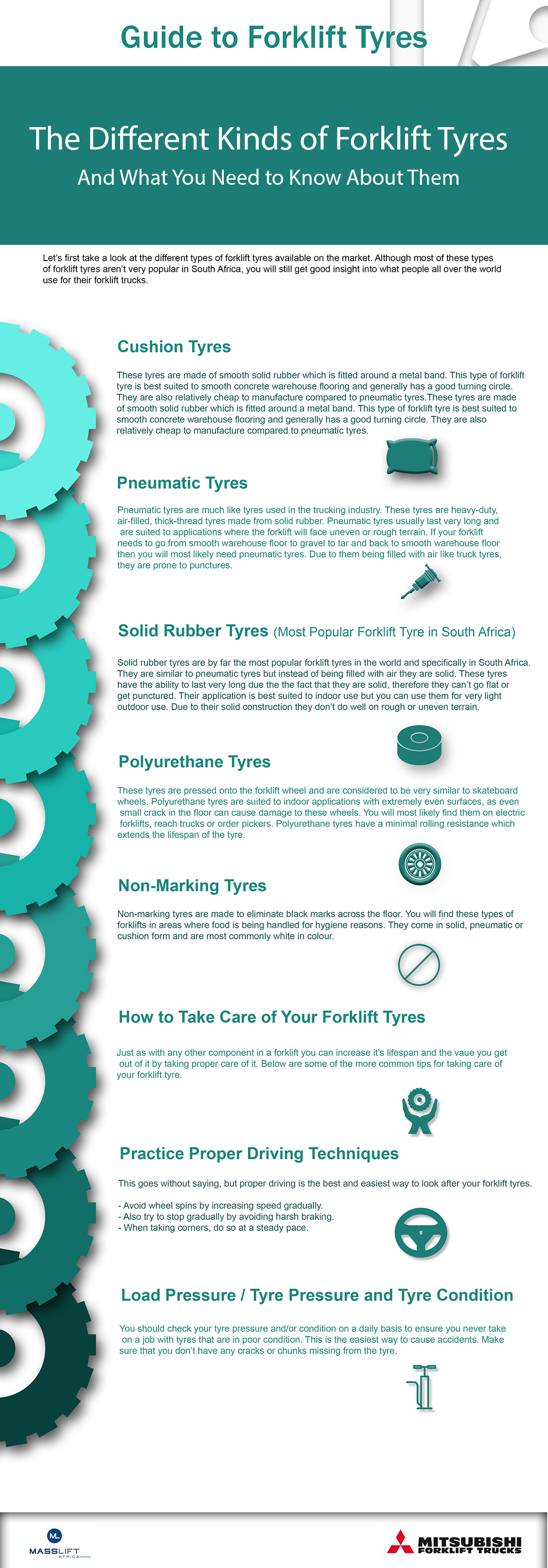 Forklift tyre types